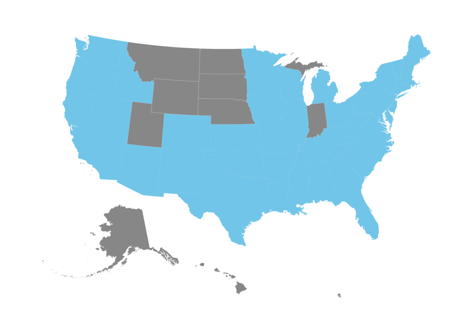 US Map Coverage